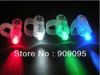 200pcs/lot LED finger ring laser beam glow light 4 colors finger light Christmas party supplies fast delivery free shipping