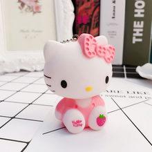 Atacado Bonito Dos Desenhos Animados Olá Kitty Boneca Gato Chaveiros Chaveiros Chaveiro Titular Sacos de Meninas Mulheres Charme Acessórios Pingente de Carro(China)