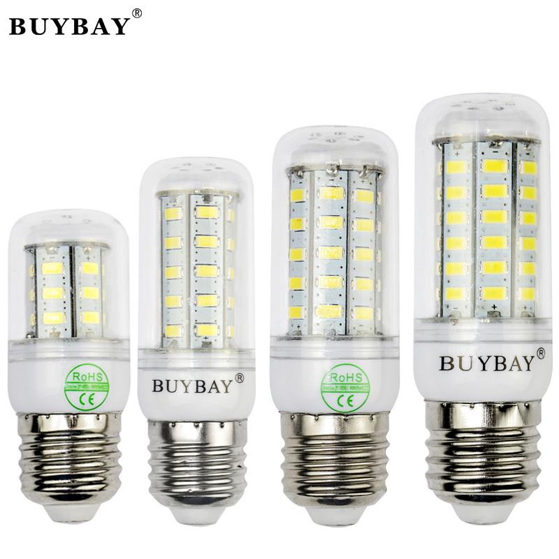 5pcs/lot BUYBAY SMD 5730 LED lamp 220V / 110V Lighting 24 / 36 / 48 / 56 LEDs Chandelier Led Light Christmas LED Corn Bulb<br><br>Aliexpress