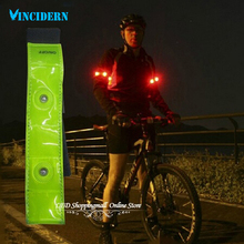 4LED reflective arm band,flashing LED Velcro Arm/leg Bands Bicycle running bracelet belt 10pcs/lot freeshipping(China (Mainland))
