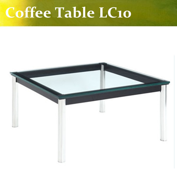U-BEST high quality Le Corbusier Modern Glass Coffee Table LC10,LC10 Dinning Table(China (Mainland))