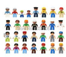 10 unids/lote nueva Duplo Building Blocks figuras partículas grandes Compatible con juguetes Lego para los niños