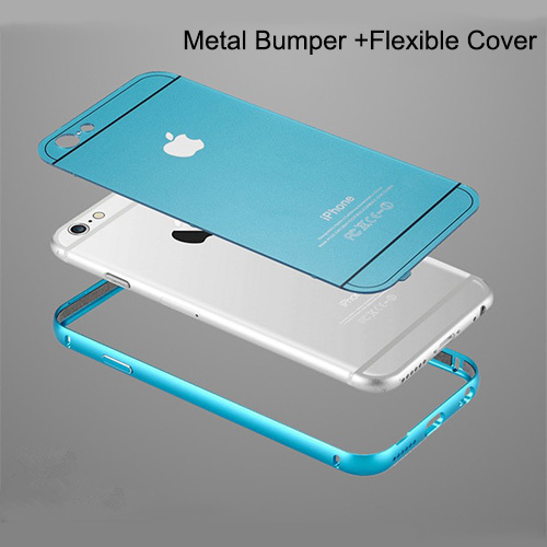 New Thin Metal Case Bumper for Apple iPhone 6 & 6 Plus Original Logo Korea Fashion 4.7/ 5.5 Arc Best Aluminum Plastic Hard Cover(China (Mainland))