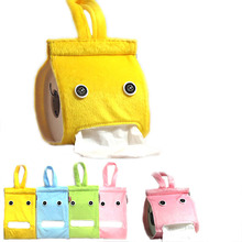 Creative Hanging Tissue Holder Paper Holder Dispenser Cover Plush Cloth Toilet Paper Container Box(China (Mainland))