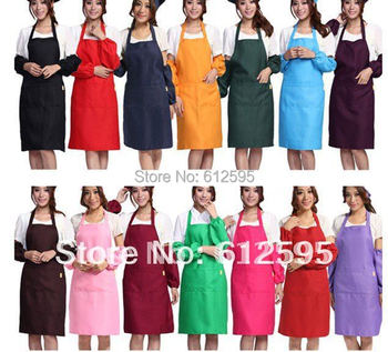 Brand new wholesale 12 PCS Fashion adult multi-colour Working clothes Cooking Kitchen aprons waiter clothes aprons cooking