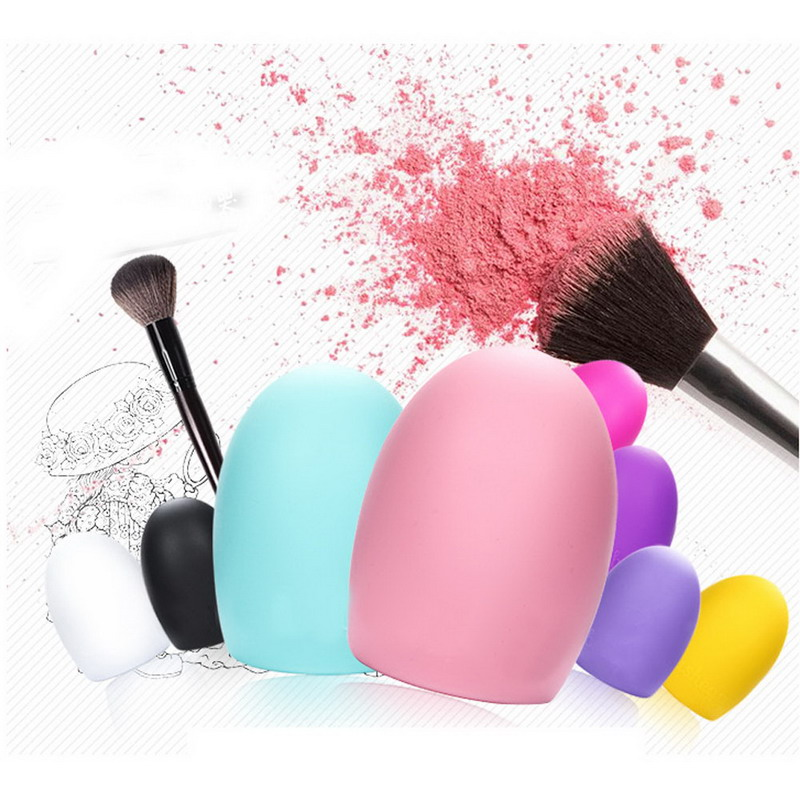Free Shipping New Cleaning  Egg Brush Cosmetic Makeup Brush Foundation Brush Silicone Cleaner Tool GUB#