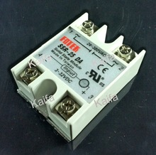 wholesale 1pcs solid state relay SSR-25DA 25A actually 3-32V DC TO 24-380V AC SSR 25DA relay solid state(China (Mainland))
