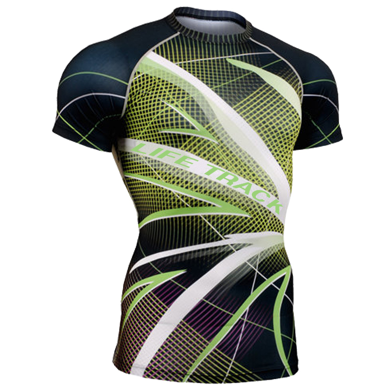 CFS-71 Allover Graphic Men`s Fitness Tops Tees Quick Dry Compression Crossroad MTB GYM MMA Crossfit Running Shirts - [XON Sports] Sports Clothing store
