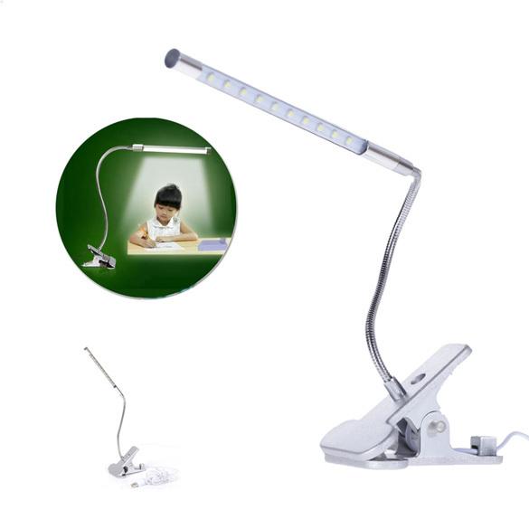 Гаджет  2015 New R1B1 Clip-on 10 LED USB Light Gooseneck Reading Touch Desk Table Lamp for PC None Свет и освещение