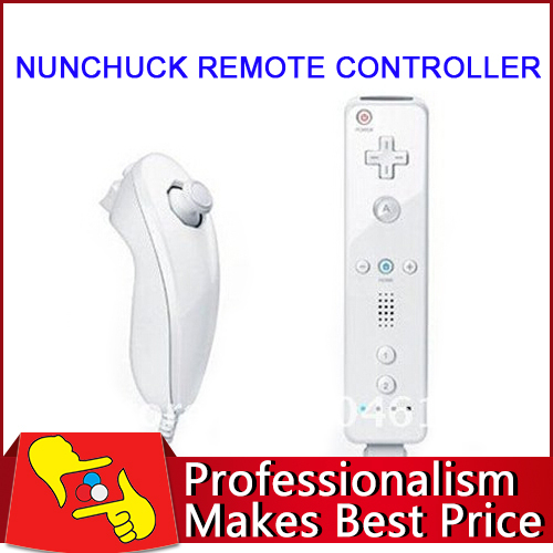 Best quality~!!!Remote nunchuck and controller for Nintendo wii 10pairs/lot buy more save shipping(China (Mainland))