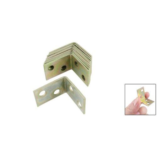 Гаджет  ABWE! Amico 10 Pcs 25x25x16mm 90 Degree Metal Right Angle Bracket Shelf Support None Мебель
