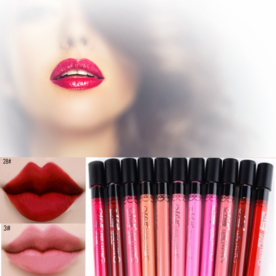 24 Colors Elegant Beauty Lipstick Magic long lasting Lipsticks For MAC Makeup Lip Balm Gloss Lipstick to Mouth Makeup Tools(China (Mainland))