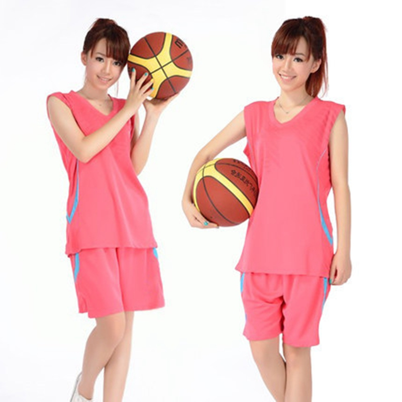 Man Woman Basketball <font><b>jerseys</b></font> Sets Tops and Shorts Female basketball clothes suit Sports breathable couples lovers shirts