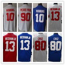 10 Eli Manning 13 Odell Beckham Jr. 80 Victor Cruz Men's Game Football Jerseys Size:S-XXXL Embroidery Log(China (Mainland))