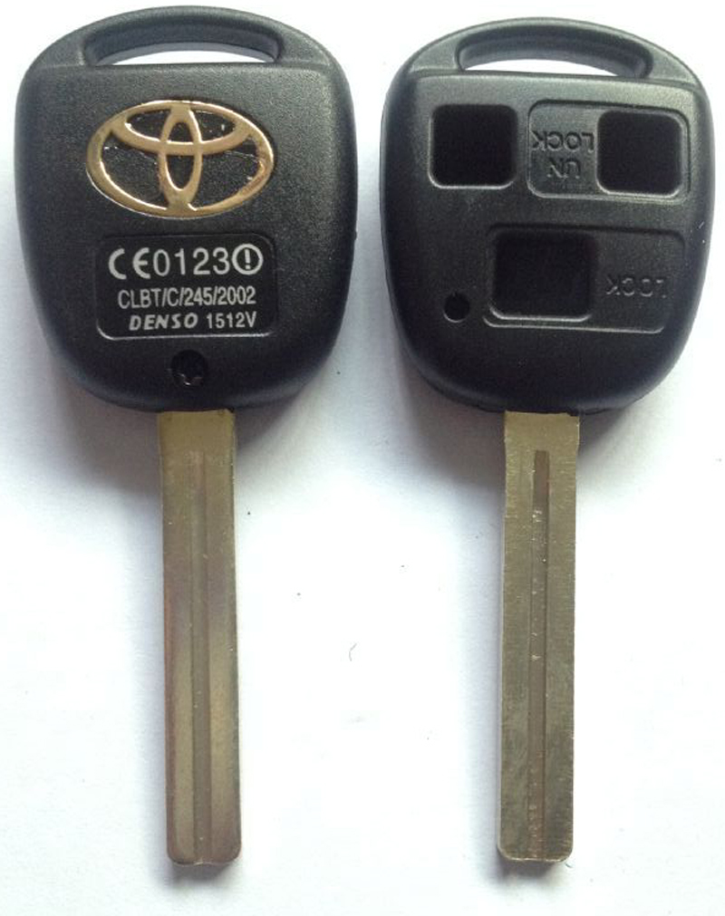 KL23-1 TOY40P-3B TOYOTA KEY SHELL, 3 BUTTONS HOLE, WITH TOYOTA LOGO LONG BLADE CAR KEY BLANK(China (Mainland))