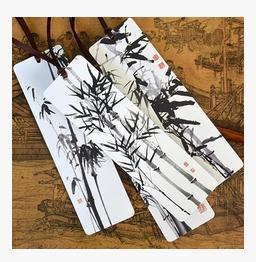 New arrival Bamboo Painting Bookmarks art collection business gifts 20pcs/lot free shipping(China (Mainland))