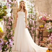 Buy Vestido De Noiva Sexy Backless Bohemian Lace Beach Boho Wedding Dresses 2017 Cheap Chiffon Wedding Gowns Robe de Mariage for $106.77 in AliExpress store