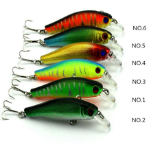 8.5 Cm length 6# Hooks Bionic Bait Spinner Lures Fishing Minnow Tackles Random Color - Shanghaaii store