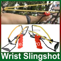 New catapult velocity Foldable Wrist Support Sling Shot Slingshot Catapult Outdoor Hunting Fishing Red barnett sling shot