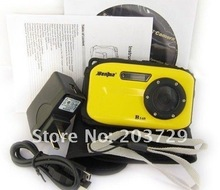 2012 New Arrival! High Quality, Free Shipping Specially Designed Waterproof B168 9.0 MP Digital Camera with 2.7 Inch LCD Screen