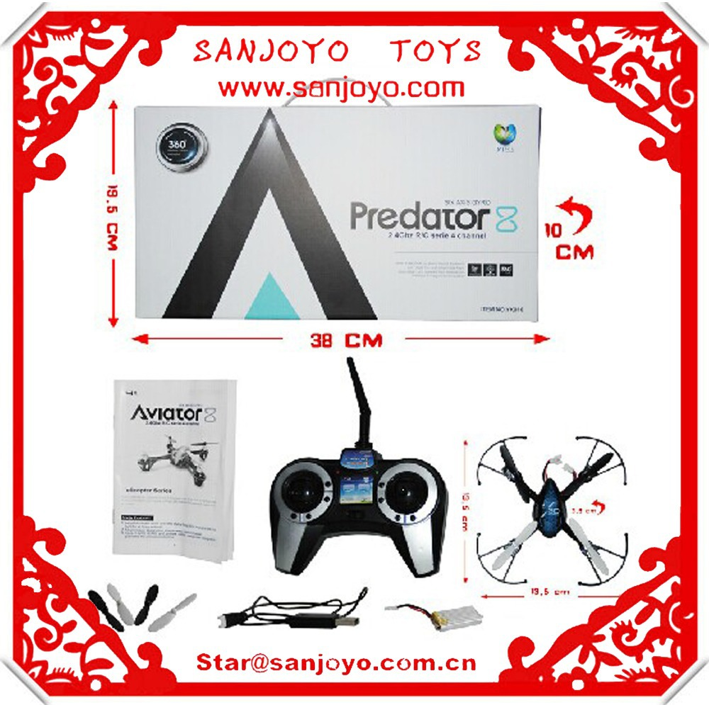 016 Predator 2.4Ghz 4CH remote control RC 6-Axis GYRO Mini 3D Quadcopter UFO drone Helicopter(China (Mainland))