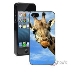 Curious GIraffe Protector back skins mobile cellphone cases for iphone 4/4s 5/5s 5c SE 6/6s plus ipod touch 4/5/6