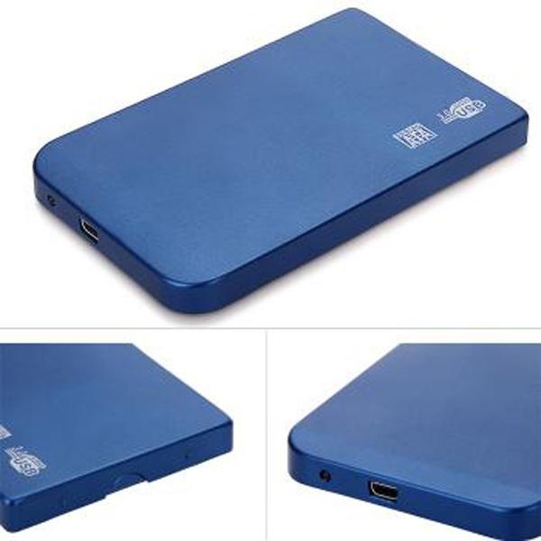 Superspeed USB 3.0 SATA 2.5 Inch Hard Disk Drive Enclosure HDD External Aluminum Cover Case Blue Black Silver Red - Shenzhen EST Technology Co., Ltd store