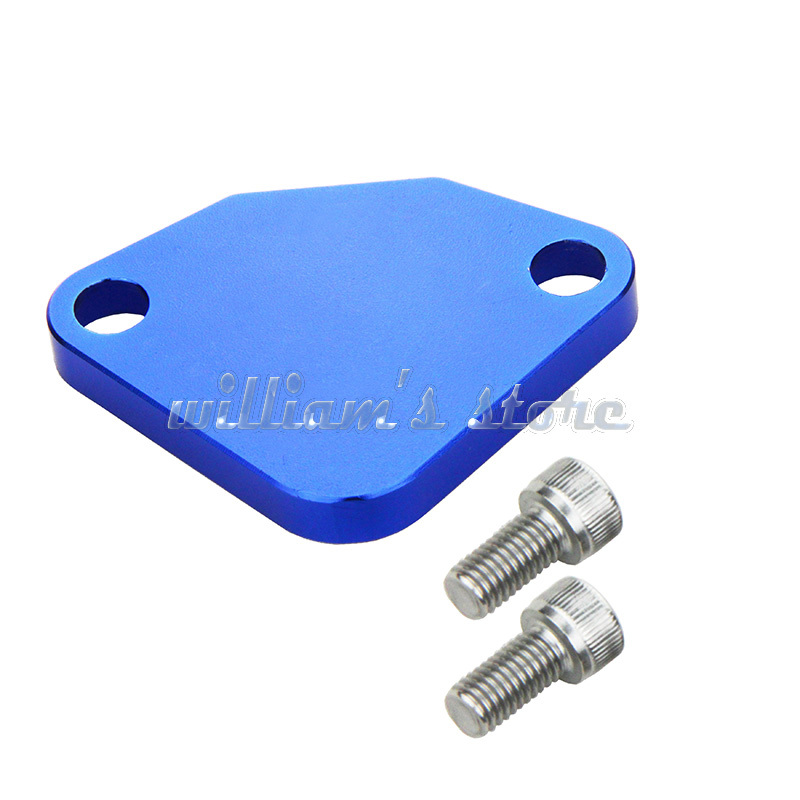Racing EGR Block Off Plate Blue For Honda Accord (4cyl) 1990-1997 For Honda Prelude 1992-2001(China (Mainland))