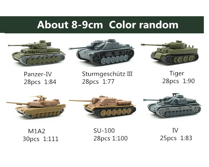 6pcs/set Assembled Tank 4D DIY Kits Eight Tanks 1:84 PVC 8-9CM Model Puzzle Plastic Assembling Military Toys Children(China (Mainland))