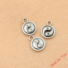 Buy 15pcs Vintage Antique Silver Plated Yin Yang Charms Pendants Jewelry Making DIY Handmade 13x10mm for $1.03 in AliExpress store