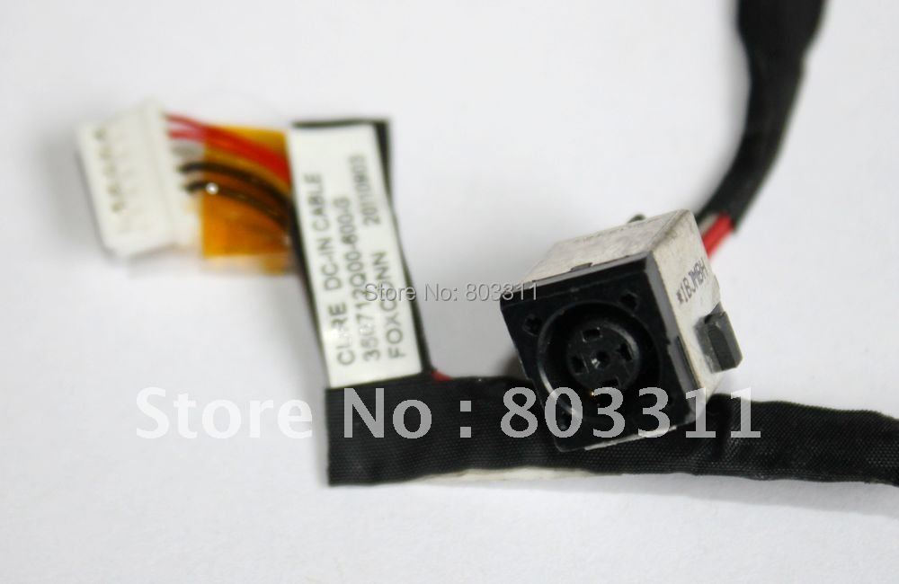 Free shipping Power DC JACK with cable for HP ProBook 6560B 8560P Laptop DC - IN Jack and Cable 350712Q00-600-G 5pc/lot(China (Mainland))