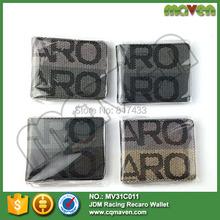 Maven 200PCS/LOT NEW Coming wallet Recaro JDM VERSION Racing Seat Fabric and Leather Wallet(China (Mainland))