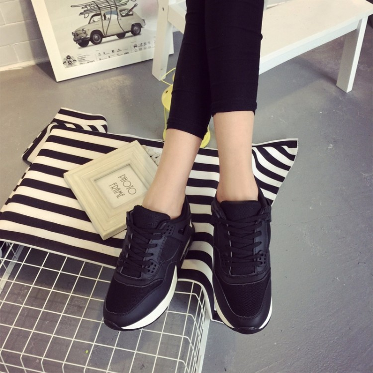 Spring 2016 new brand women shoes flat shoes increased Sao pink air jogging shoes breathable comfortable outdoor travel shoes