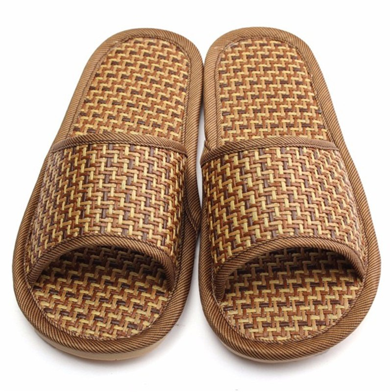Men Women Shoes Comfort Natural Bamboo Summer Style Flax Lover Slippers Home Indoor Antiskid Woman Rattan Mat Bottom Cool Shoes<br><br>Aliexpress