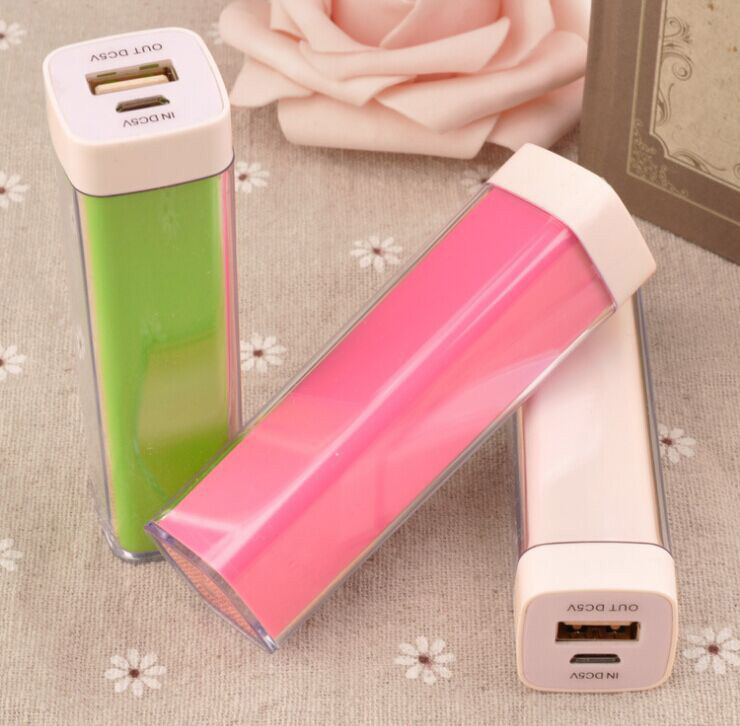 power bank 18650 2600mAh battery smart mobile phones applicable mini 2 sets/lot - Color gift promotional store