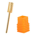 1Pcs Nail Tool Professional Nail Drill Bit Gold Plated for Nail Art Polish Machine Tungsten Steel