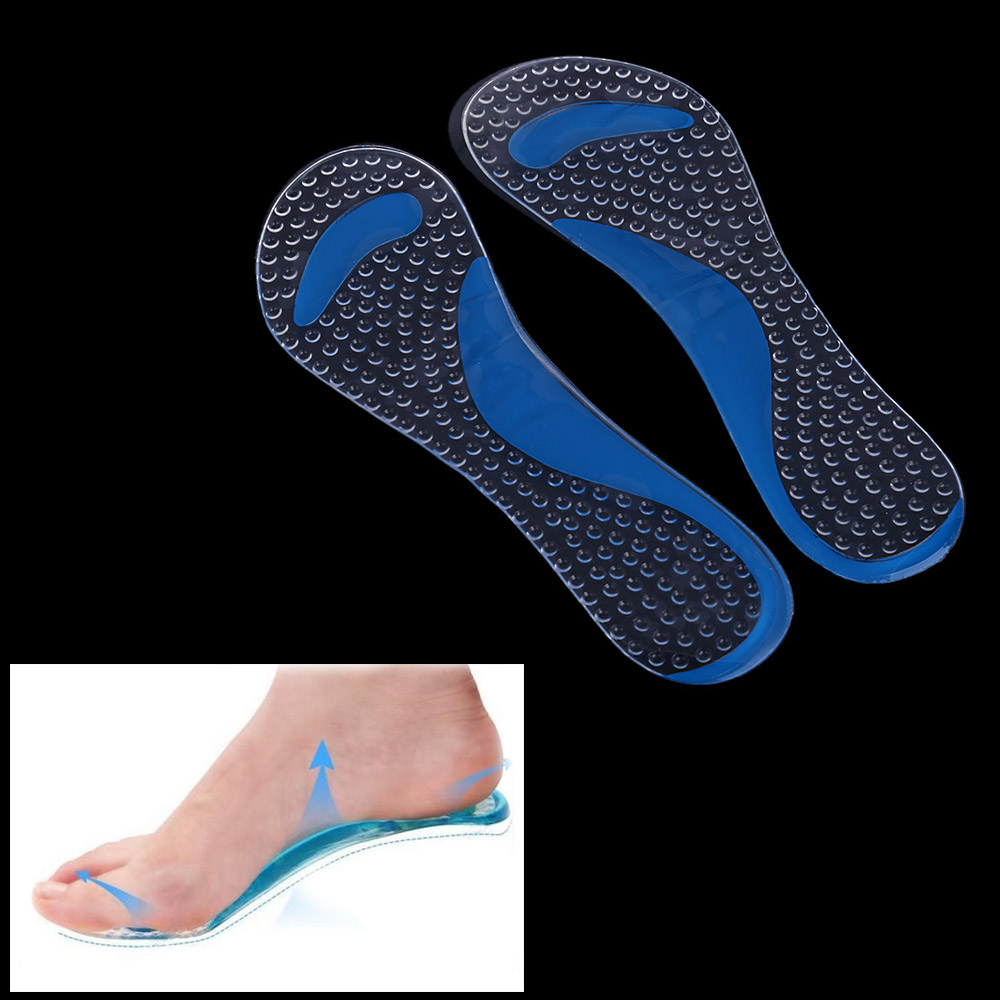 Hot sale Gel Insole 3/4 Lady Shoe Pad With Non-Slip Arch Support And Cushion Orthotics Feet Care Washable(China (Mainland))