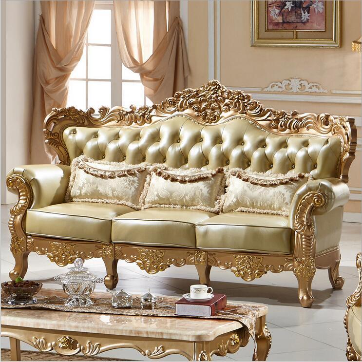 living room furniture modern fist layer genuine leather sofa European sectional sofa set p10094(China (Mainland))