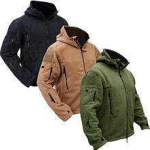 Men Tactical Military Winter Fleece Hooded Outdoor Jacket(China (Mainland))