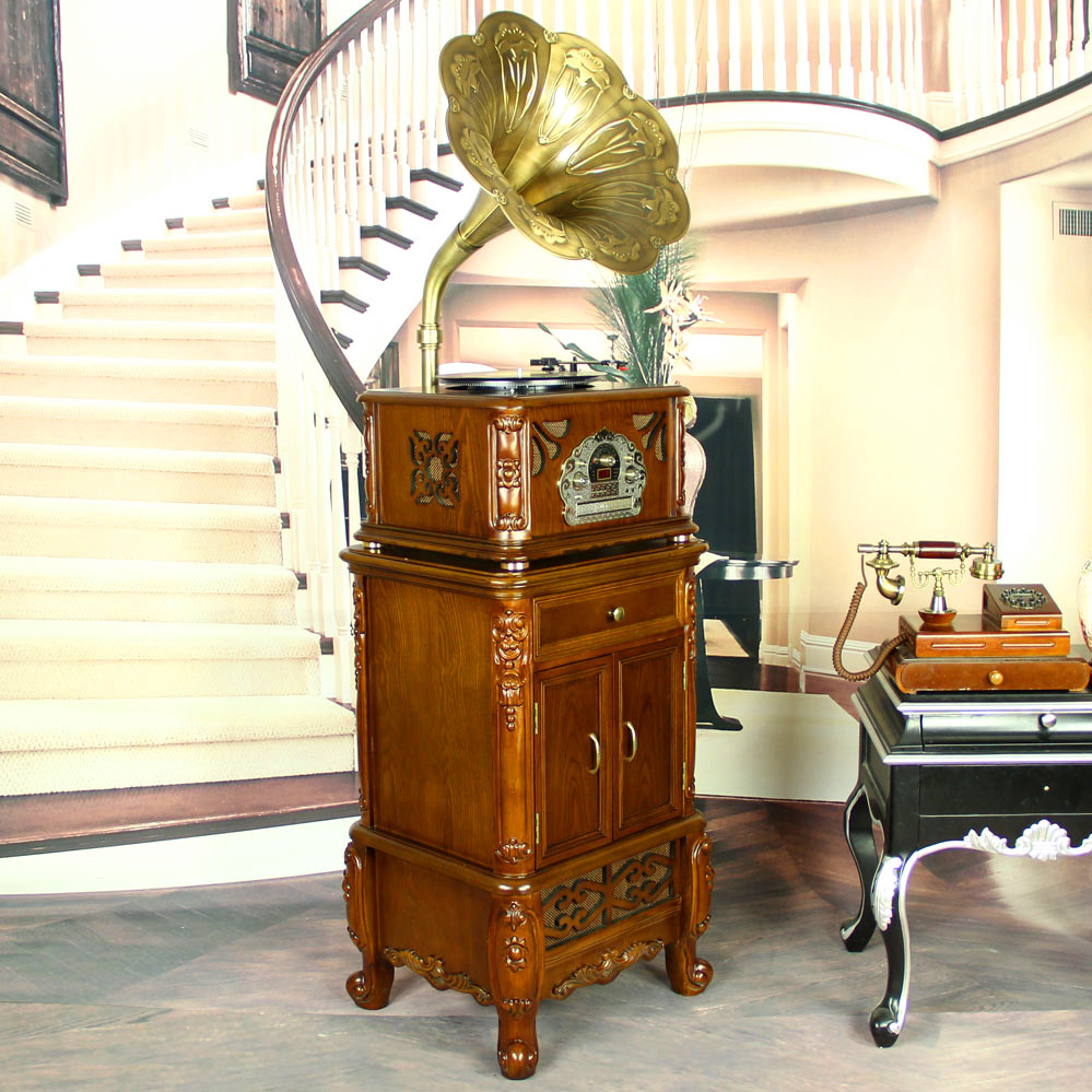 Gift F - 269 gramophone archaize CD/MP3 / radio loudspeakers restoring ancient ways vinyl old gramophone record player(China (Mainland))