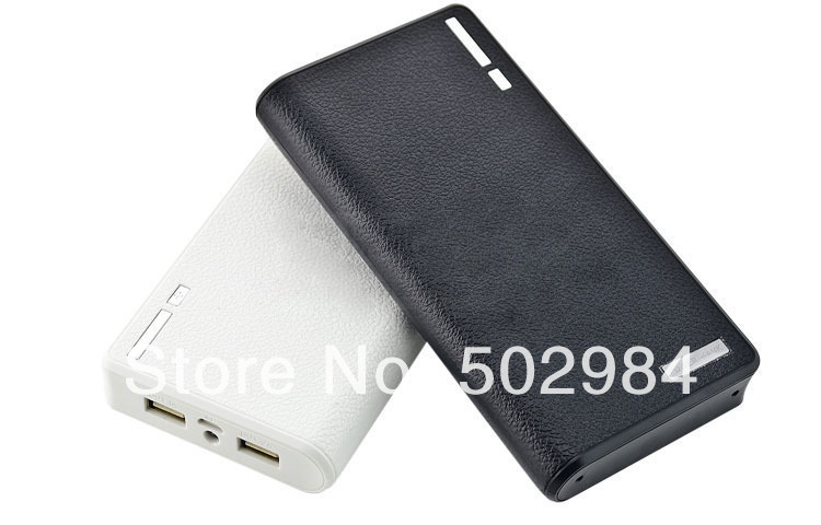 4 Connectors + 20000mAh Wallet Portable Power Bank for iPhone 5 iPad Mini iPod HTC Samsung S4 S5 Dual USB Charger Led Lighting