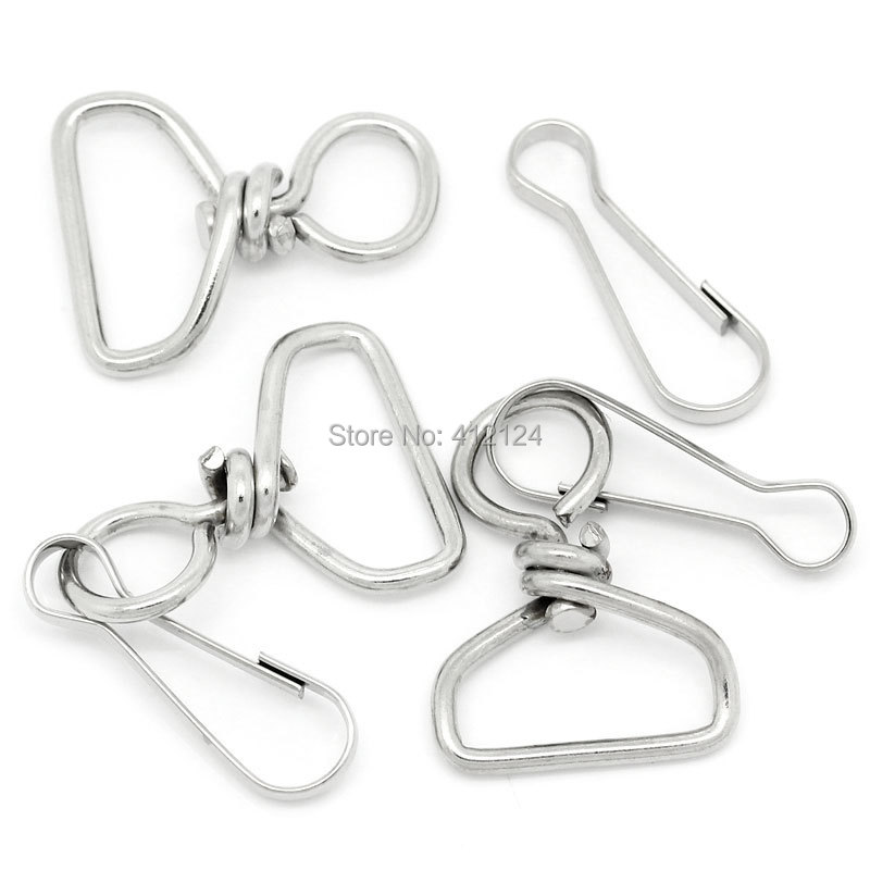 Free Shipping 50Pcs Whloesale Hot New DIY Silver Tone Key Holders Ring Clasps Clips 8 Shaped Charms Jewelry Component 6.1cm(China (Mainland))