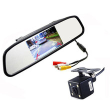 2015 HD Video Auto Parking Monitor,LED Night Vision Reversing CCD Car Rear View Camera With 4.3 inch Car Rearview Mirror Monitor(China (Mainland))