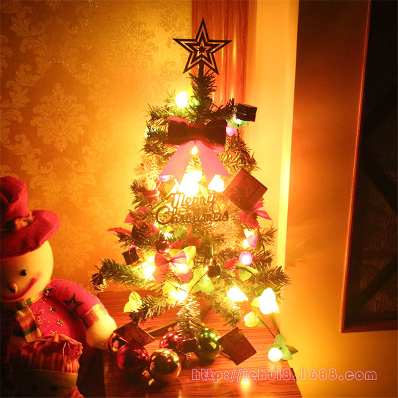 60cm 24ft Mini Design LED light DIY Christmas Tree Decorations packages Set for Home artificial ornaments Kids Toys 0204(China (Mainland))