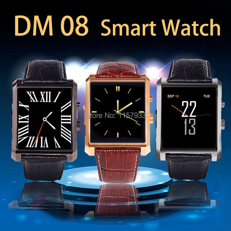 Hot sale Bluetooth digital Smart Watch dm08 waterproof dial wristwatch Sync whatsapp Call Pedometer camera play for Android IOS(China (Mainland))