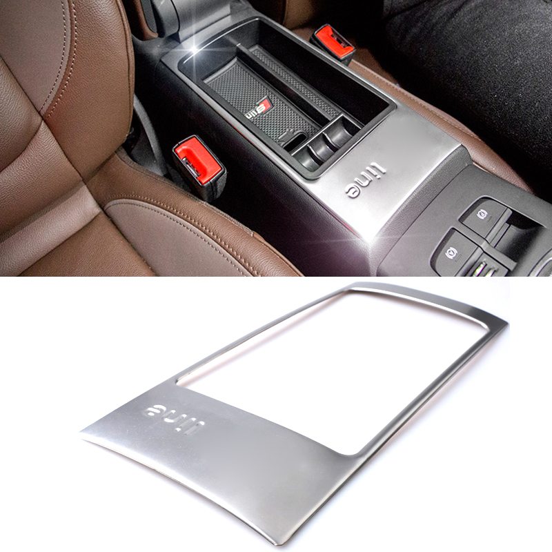 2016 Stainless Steel Car Styling Storage Box Decorative Frame Sequins Cover  Decorative Panel For Audi A3 S-line