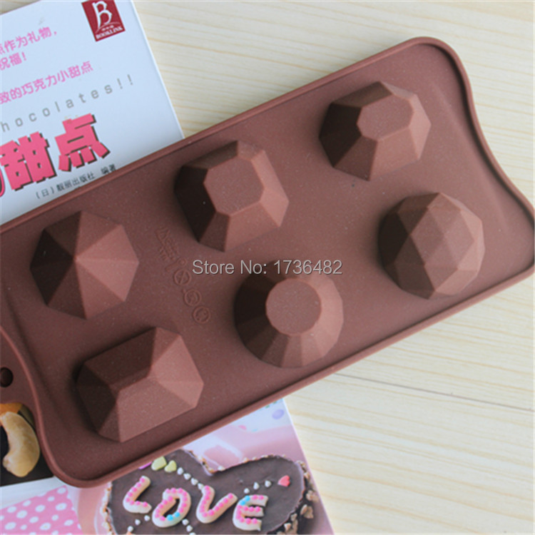 6holes different paterns of stone silicone mold/Baking tools molds for chocolate mousse cake form bakeware tool free shipping(China (Mainland))