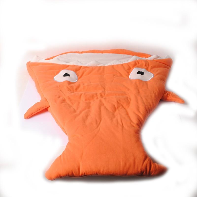 Cartoon Shark Baby Sleeping Bags born Winter Baby Stroller Blanket Swaddle Bedding Warm Cute Baby Sleepsacks -- MKE020 PTP
