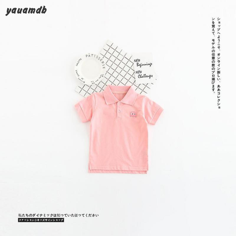 Kids polo shirt 2017 summer babboys girls polo shirt cotton chapter children clothes infant casual brand clothing y29(China (Mainland))