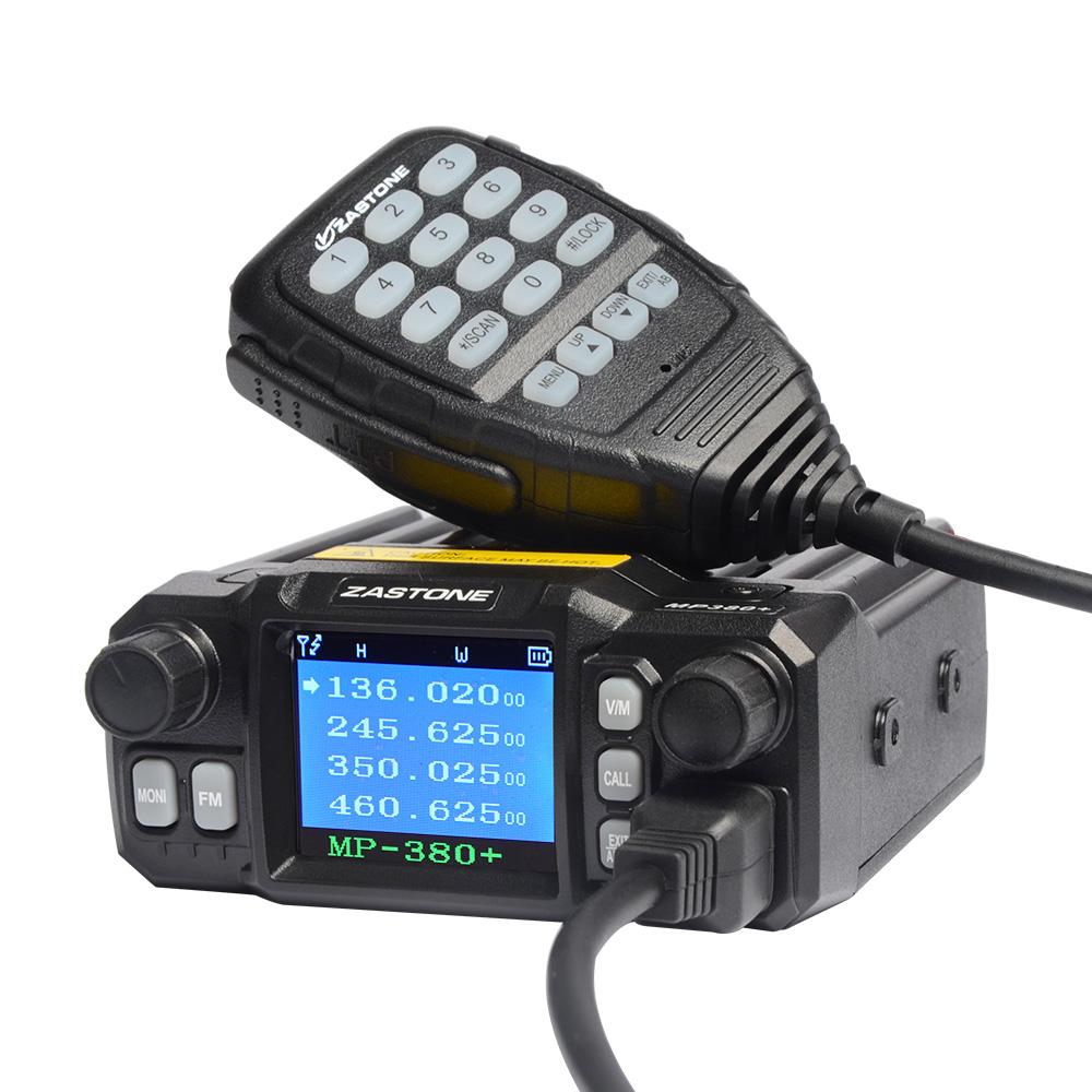 Zastone ZT-MP380 Plus MP380+ Mobile Radio Dual Band Quad-standby VHF/UHF 25W/20W Car Radio Walkie Talkie Transceiver Station(China (Mainland))